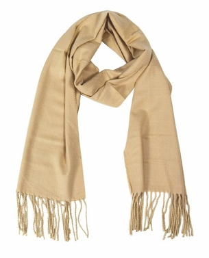 Tan Cashmere Feel Light Unisex Scarf