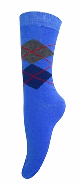 Women�s Soft and Warm Comfortable Long Cashmere Argyle Socks (Blue)