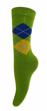 Women�s Soft and Warm Comfortable Long Cashmere Argyle Socks (Green)