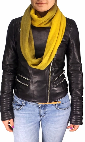 Yellow Two Toned Infinity loop neck scarf snood