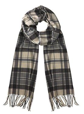 Soft Cashmere Feel Plaid Houndstooth Print Scarf Unisex Scarves