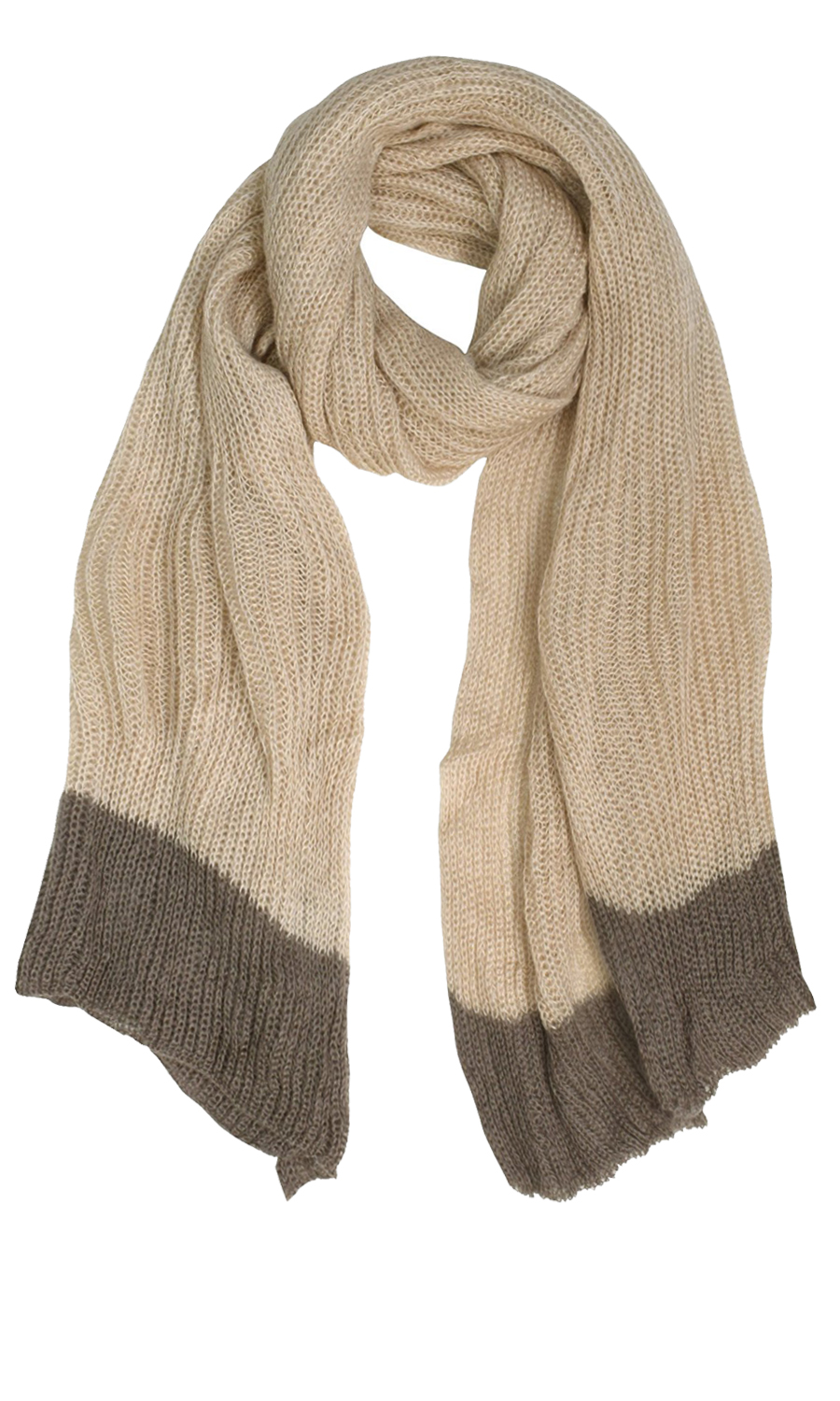 Oatmeal Loose Border Hand Knit Warm Scarf Wrap