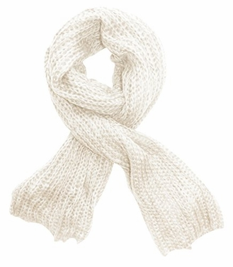 Soft Warm Chunky Loose Hand Knit Scarf (Cream)