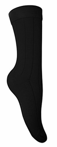 Women's  Soft & Warm Comfortable Ribbed Cashmere Socks (Black)