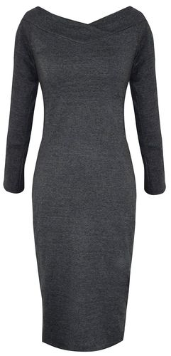 Solid Grey Bodycon Bodice Slim Fit Evening Dress