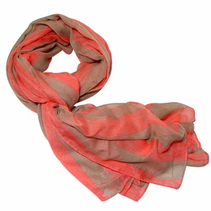 Summer Striped Scarves & Floral Outline Loop Scarves
