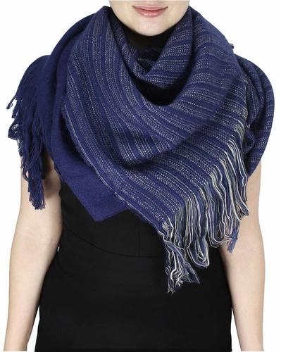 Violet Large Warm Woven Blanket Scarf Shawl Poncho