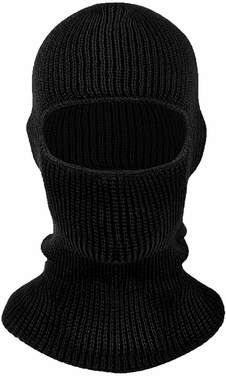 Ebony Knit One Hole Face Mask Balaclava Snowboarding Biker Mask