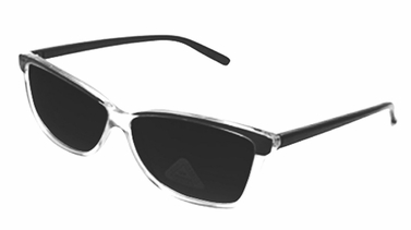 Black Translucent Retro Poly-carbon Lens Wayfarer Sunglasses
