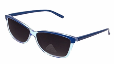 Blue Translucent Retro Poly-carbon Lens Wayfarer Sunglasses