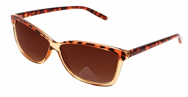 Translucent Retro Wayfarer Style Sunglasses with Polycarbon Lens (Cheetah)