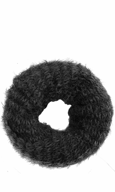 Black Trendy Multi Color Warm Cozy Fuzzy Chunky Knit Winter Infinity Scarves