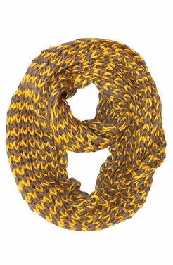 Chevron Design Unisex Hand Knit Infinity Loop Scarves
