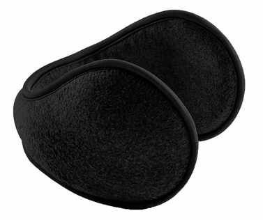 Black Unisex Wrap Around Polar Fleece Ear Band Earmuffs Ear Warmer - Limited Quantity. Limit one per household