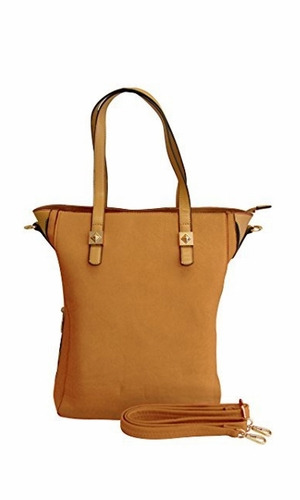 Beige Top Handle Slouchy Hobo Hand Bag Office Style Tote Purse