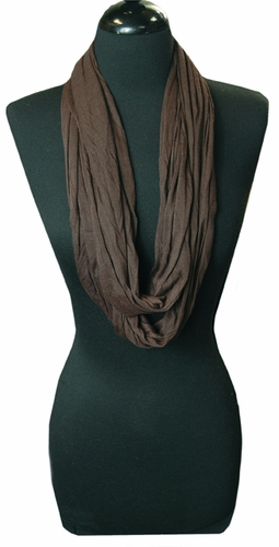 Brown Light Infinity Loop Circle Scarf