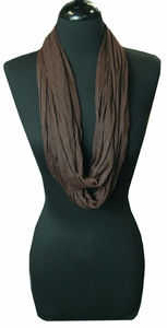 Very Soft and Light New Fashion Brown Infinity Loop Circle Scarf
