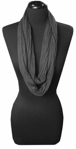 Gray Light Infinity Loop Circle Scarf