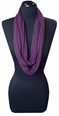 Purple Light Infinity Loop Circle Scarf