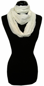 White Light  Infinity Loop Circle Scarf