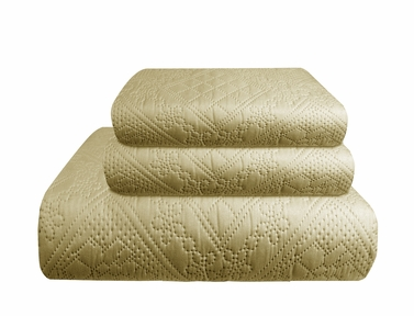 Vintage Parisian Inspired Paisley Embossed Quilt Set