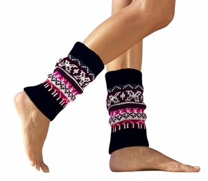 Warm Cozy Soft Stretchy Adjustable Winter Knitted Leg Warmers