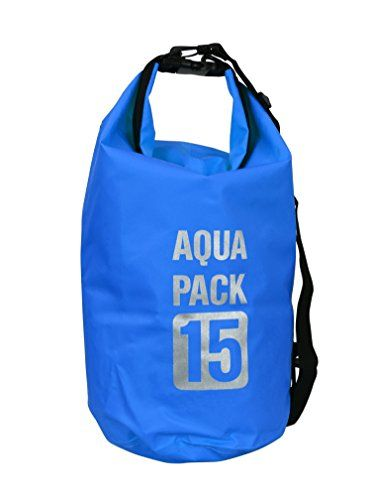 Waterproof Dry Pack Bag-Roll Top Dry Compression Sack Keeps Gear Dry for Kayaking, Beach, Rafting, Boating, Hiking, Camping and Fishing 15 L