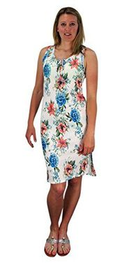 White Floral Print Sleeveless Pleat Fabric Bodycon Dress