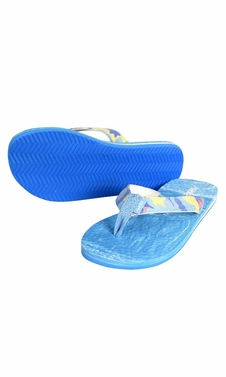 Blue Women�s Bright Fun Flip Flops Pool Beach Water Shoes