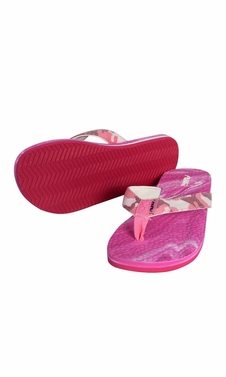 Pink Women�s Bright Fun Flip Flops Pool Beach Water Shoes
