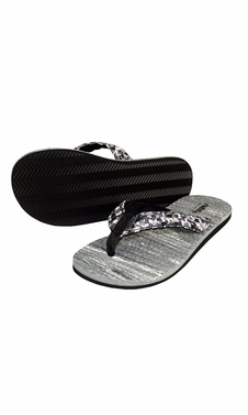 Women�s Casual Strappy Summer Slipper Shower Sandal Beach Flip Flops Black and White