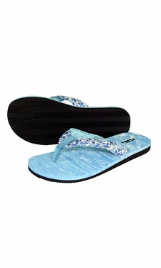 Blue Women�s Casual Strappy Summer Slipper Shower Sandal Beach Flip Flops
