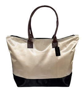 Womens Beach Fashion Large Travel Tote Handbag Shoulder Bag Purse Beige Black