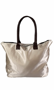 Beige Womens Large Travel Tote Handbag Shoulder Bag Purse