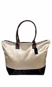 Womens Beach Fashion Large Travel Tote Handbag Shoulder Bag Purse Solid Coffee