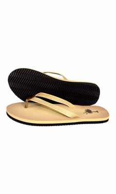 Beige Summer Beach Pool Flip Flops Casual Strappy Slip ONS