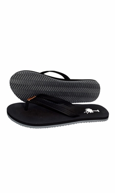 Black Summer Beach Pool Flip Flops Casual Strappy Slip ONS