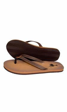 Brown Summer Beach Pool Flip Flops Casual Strappy Slip ONS