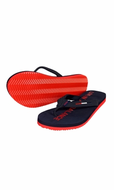 Womens Summer Beach Pool Flip Flops Casual Strappy Slip ONS Dark Blue