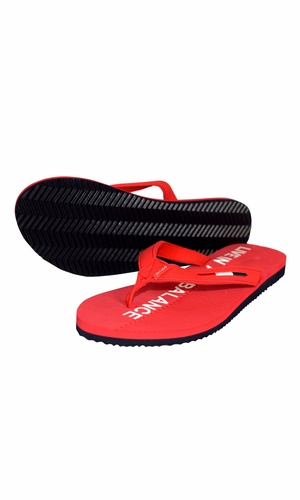 Red Summer Beach Pool Flip Flops Casual Strappy Slip ONS