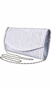 Lilac Vintage Satin Pleated Envelope Evening Cocktail Wedding Party Handbag Clutch