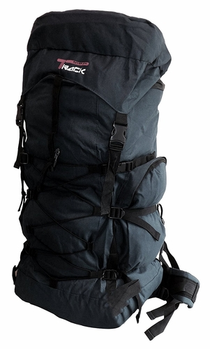 X Large Outdoor Hiking Camping Vacation Travel Luggage Backpack (Black/Black Bungee)