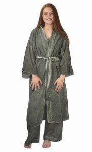 Green Robe Yoga Pajamas Sleepwear Loungewear Nightgown Set