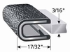 100B3X3/16 EDGE TRIM 3/16 EDGE TRIM; BLACK WITH PEBBLE TEXTURE 100 Ft. Or 25 Ft. (TRIM-LOK)