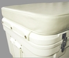 "10200-05 SSI Ultimate Cooler 200 QT 3"" White vinyl covered cushion"