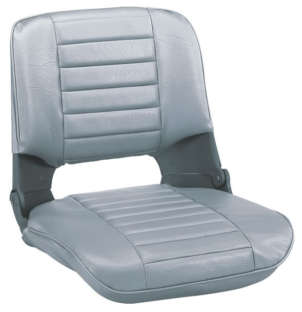 Wise Seating-Deluxe Molded Plastic Fold-Down Seat w//Cushions/, Gray//Gray