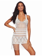 Beach Bunny Desert Dreamer Fringe Dress -White