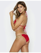 Beach Bunny Swimwear Ball and Chain Bikini Bottom - Red