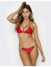 Beach Bunny Swimwear Ball and Chain Bikini Top - Red