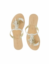 Cocobelle Fringe Sandals in Ivory